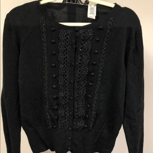 Women's black cardigan